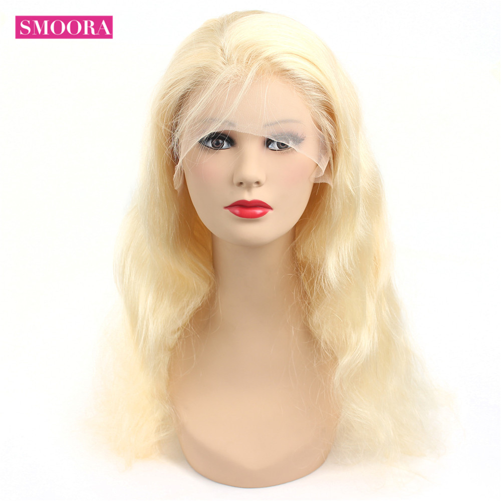 13x4 Lace Front Wig 613 Honey Blonde 30inch Lace Frontal  Hair Body Wave   Wig Baby Hair Transparent 3