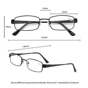 Image 5 - Meeshow fotokromik okuma gözlüğü anti UV400 erkekler paslanmaz çelik gözlükleri diyoptri okuma gözlüğü + 1.5 + 2.5 WT0340