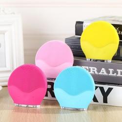 Instrumento de limpieza de silicona foremoing lavado eléctrico del hogar impermeable ultrasónico cepillo para limpieza lavado poros faciales SU214