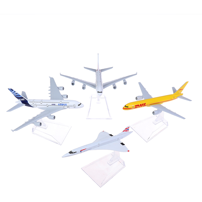 1pc Four Styles Concorde Plane Model Airplane Diecast Aircraft Aeroplane Toys Gifts image