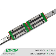 HIWIN HGH35CA Blocks Linear Guide Rail 1000mm set with ballscrew HGR35 CNC Machine Parts Linear Bearing CNC Parts High Precision