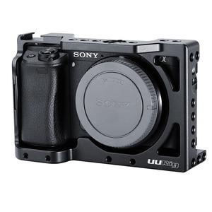 Image 2 - UURig C A6400 מתכת מצלמה Rig כלוב עבור Sony Alpha A6400 יד אחיזת מצלמה Rig DSLR מצלמה אבזרים
