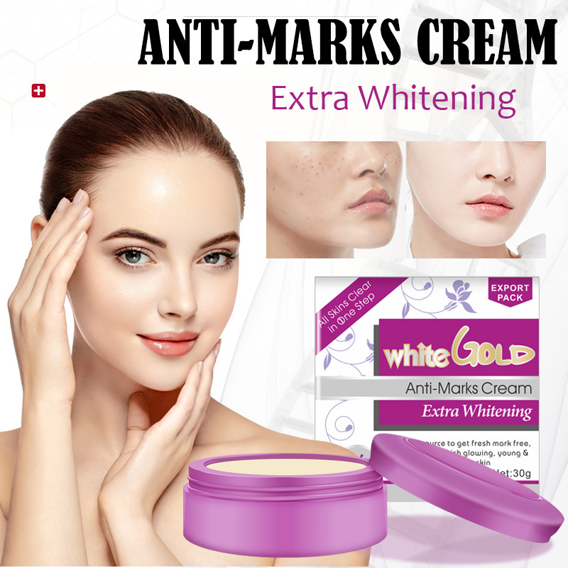 White Gold Anti-Marks Whitening Pearl Face Cream Deep Hydration And Anti-wrinkle Aging Remove Freckles Skin Care Moisturizing