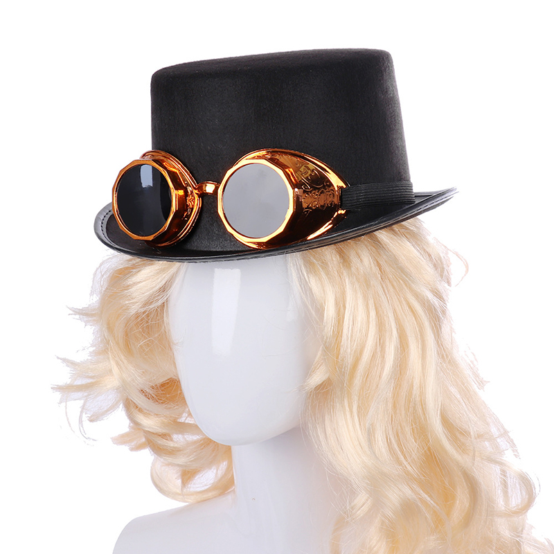 Halloween Steampunk Top Hat in Gold and Silver