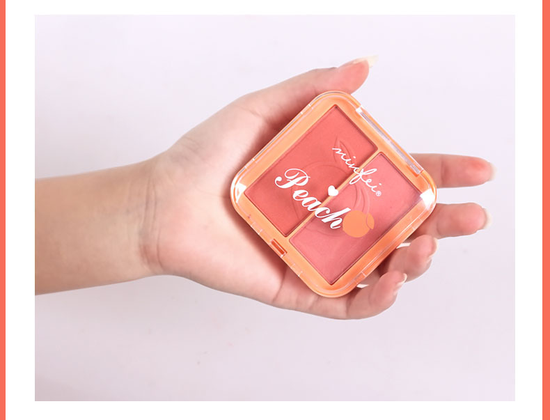 Two Color Three Dimensional Peach Blusher Blush Tray Face Palette Natural Delicate Face Contour Modification Cosmetics