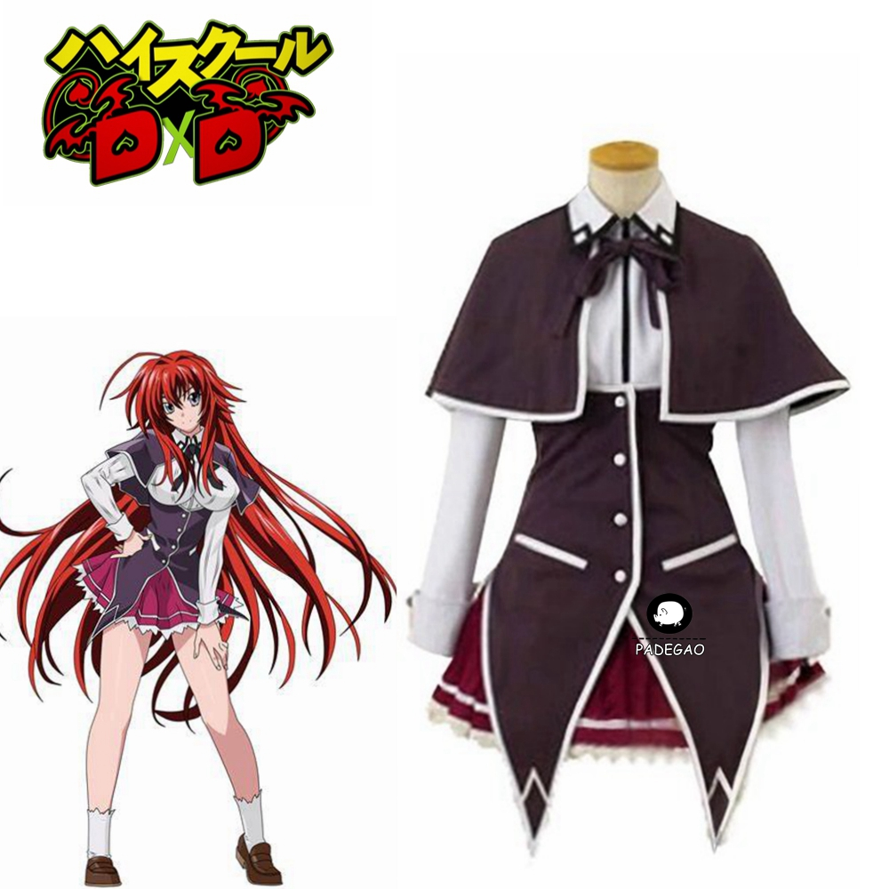 Anime High School Dxd Rias Gremory Cosplay Costume Anime Rias Cosplay PartyDress