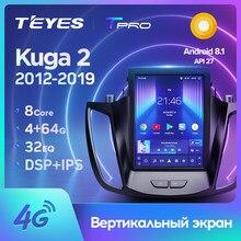TEYES TPRO For Ford Kuga 2 Escape 3 2012 - 2019 For Tesla style screen Car Radio Multimedia Player Navigation No 2din 2 din dvd