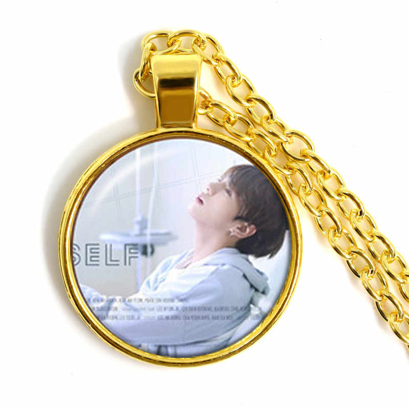 Fashion Necklace Bangtan Boys New Ablum Love Yourself Answer 25mm Glass Dome Cabochon Pendant Necklace For Army Fans Gift