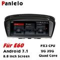 Panlelo для BMW E60 Android 2G 32G GPS навигация Авторадио 2 Din Android 8 8 дюймов четырехъядерный IPS экран для BMW серии 5 E61 E62