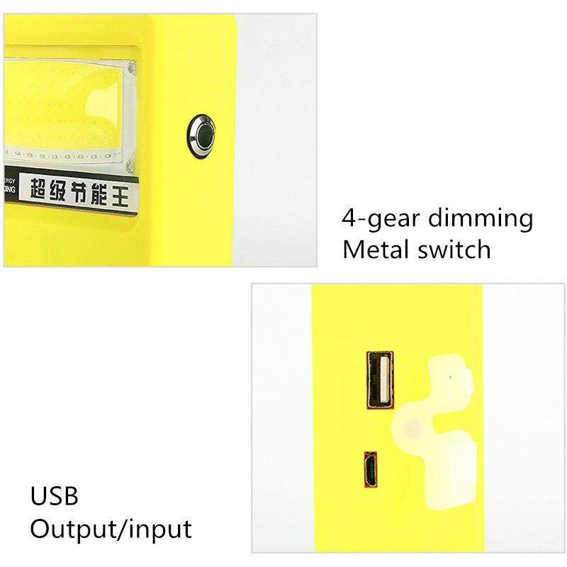 luz de trabalho solar portatil lampada acampamento 02