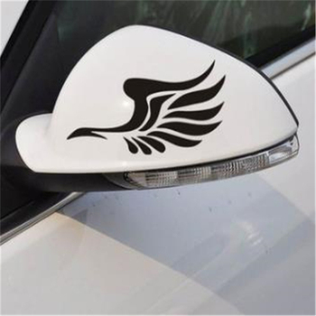 1 Pair Car Styling Sticker Decal Car Motorcycle Sticker Rearview Mirror Decor Wings Pattern Car Reflective Stickers image