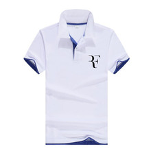 2019 fashion Roger Federer perfect logo printed polo RF Casual shirt men high quality social Polo shirts for women and Jersey Homme