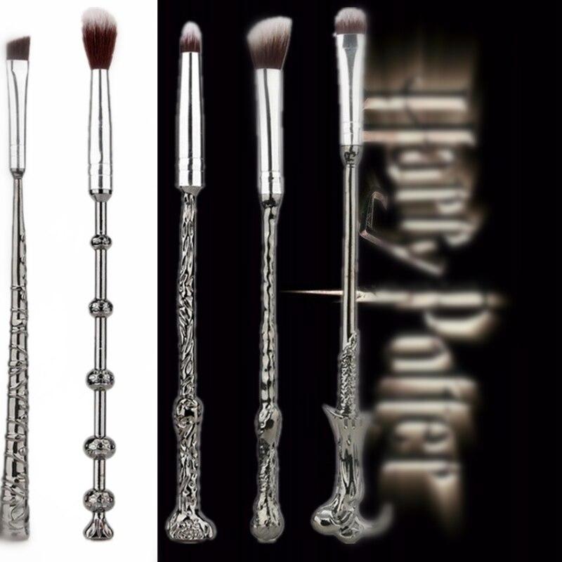 Gift Harri Potter Magic Wand Cosmetic Brush Accessories Props Lady Women Girl Cartoon Makeup Beauty Tool Metal Fancy