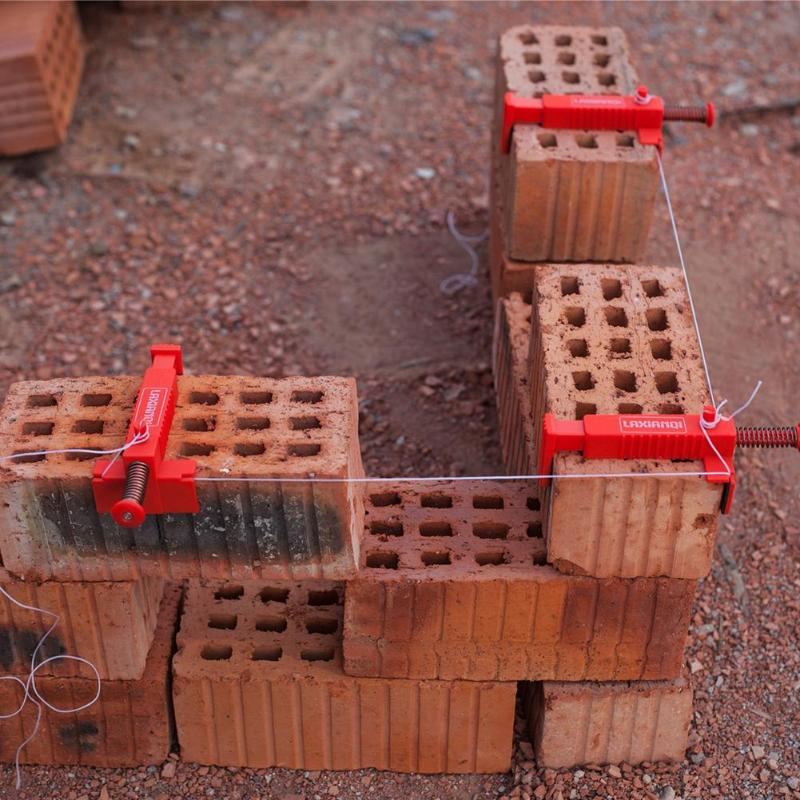 2pcs Bricklaying Wire Drawer Brick Liner Wall Builder Building Wire Frame Brick Liner Runner Engineering Accessories