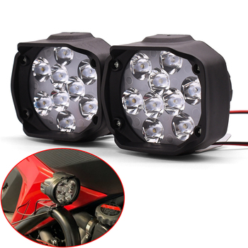 Universal Motorcycle LED Headlight White Lamp Motorbike Driving Spotlight For KTM Duke 125 200 250 390 690 EXC EXCF SX SXF XC image