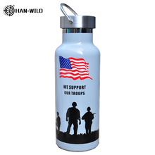 Hot 500ml Military Sports Bottles Insulated Auto Vacuum Flask Thermos Cup Stainless Steel Water Bottle Travel Mug Climbing bullet stainless steel hot water bottle high end gift cartoon thermos cup 500ml vacuum flask kettle