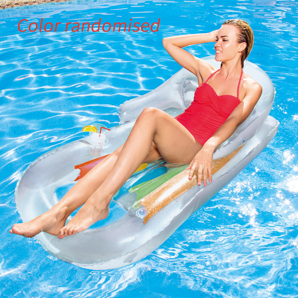 New Selling Backrest Floating Row Backrest Inflatable Floating Row Lounge Chair Single Floating Bed Waterbed Beach #f