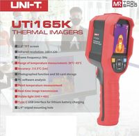 Uni T UTi165K Infrared Thermal Imager Camera Temperature Detector 30˚C~45˚C SD C