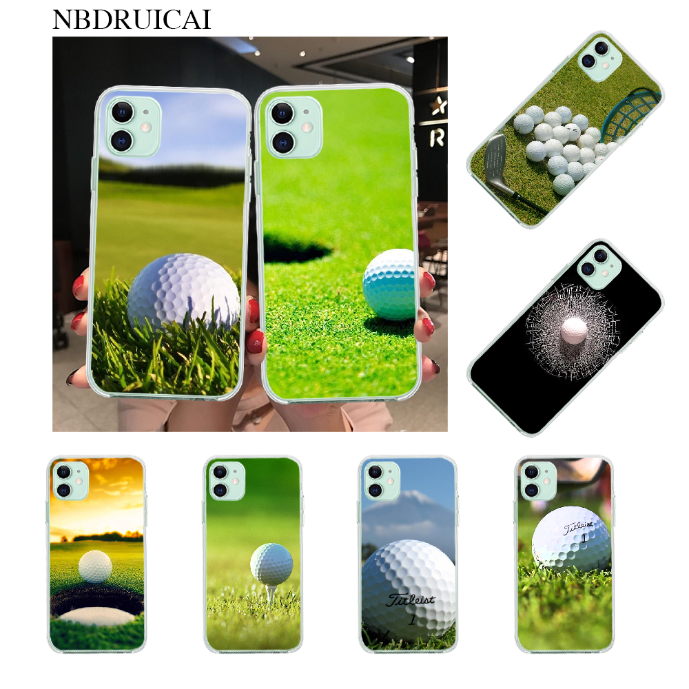 Nbdruicai Golf Ball Course Phone Case For Iphone 11 Pro Xs Max 8 7 6 6s Plus X 5s Se Xr Cover Half Wrapped Cases Aliexpress