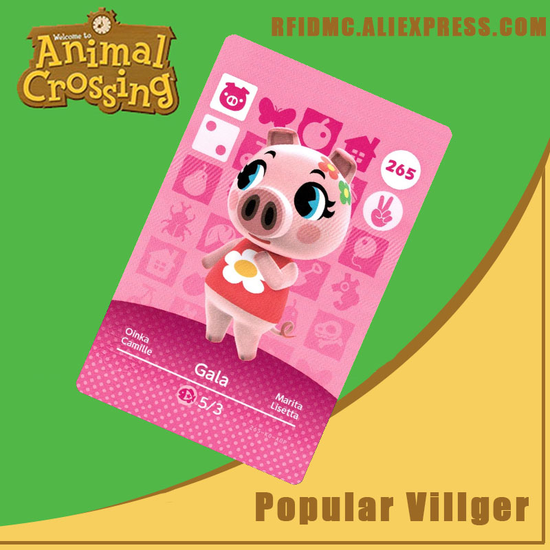 265 Gala Animal Crossing Card Amiibo For New Horizons