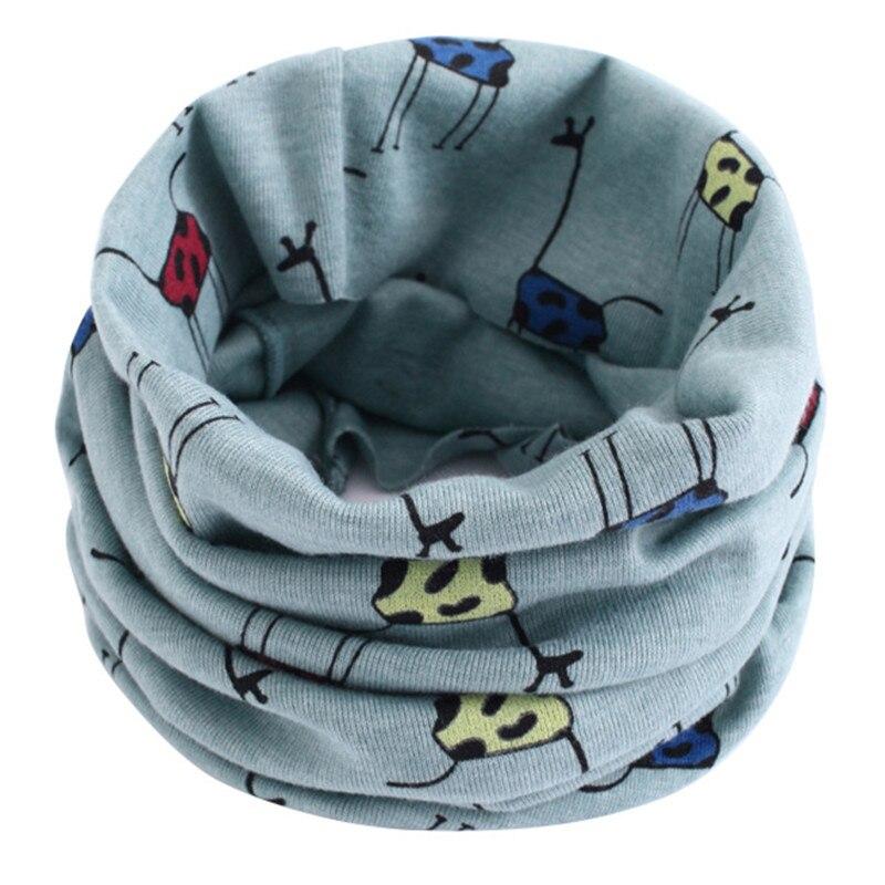 Весенне-осенне-зимний детский хлопковый шарф для От 0 до 10 лет, Детские шарфы с героями мультфильмов, модный теплый воротник - Цвет: 46