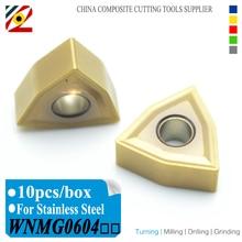EDGEV WNMG060404 WNMG060408 WNMG CNC 인덱서 블 카바이드 인서트 선반 커터 선삭 공구 텅스텐 가공 스테인레스 스틸
