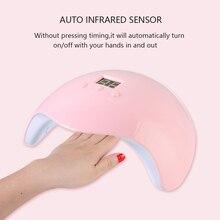Hot 36W LED UV Lamp Nail Dryer LED Nail White Light Nails Gels Manicur