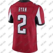 Football-Jersey Atlanta American Customized-Stitch Matt Red Youth Kid Ryan Men Women