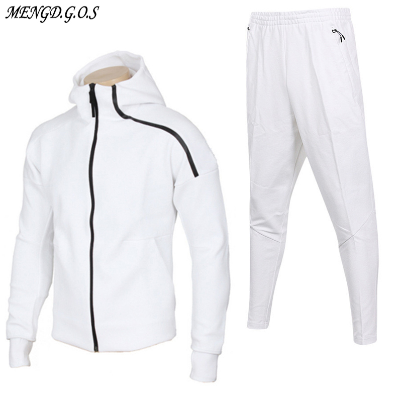 2019 Brand Quality Men's And Women's Fall Fashion Sports Suit Men's Hoodie Top Cotton Zipper Clothing