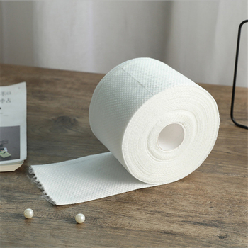 Disposable Face Towel Non-Woven Facial Tissue Makeup Wipes Cotton Pads Facial Cleansing Roll Paper Tissue недорого