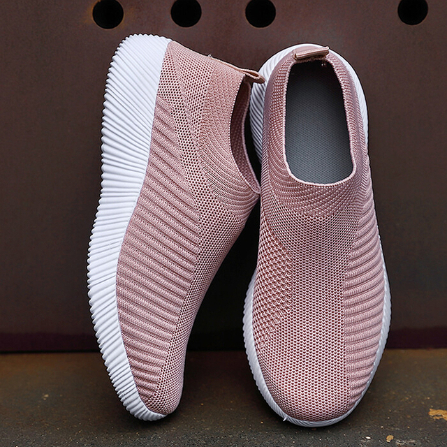 Women Vulcanized Shoes High Quality Women Sneakers Slip On Flats Shoes Women Loafers Plus Size 42 Walking Flat 1