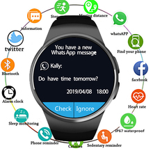 2019 Smart Watch Men KW18 Bluetooth Watches Heart Rate Pedometer SIM Smartwatch Answer Call TF Phone for Android IOS