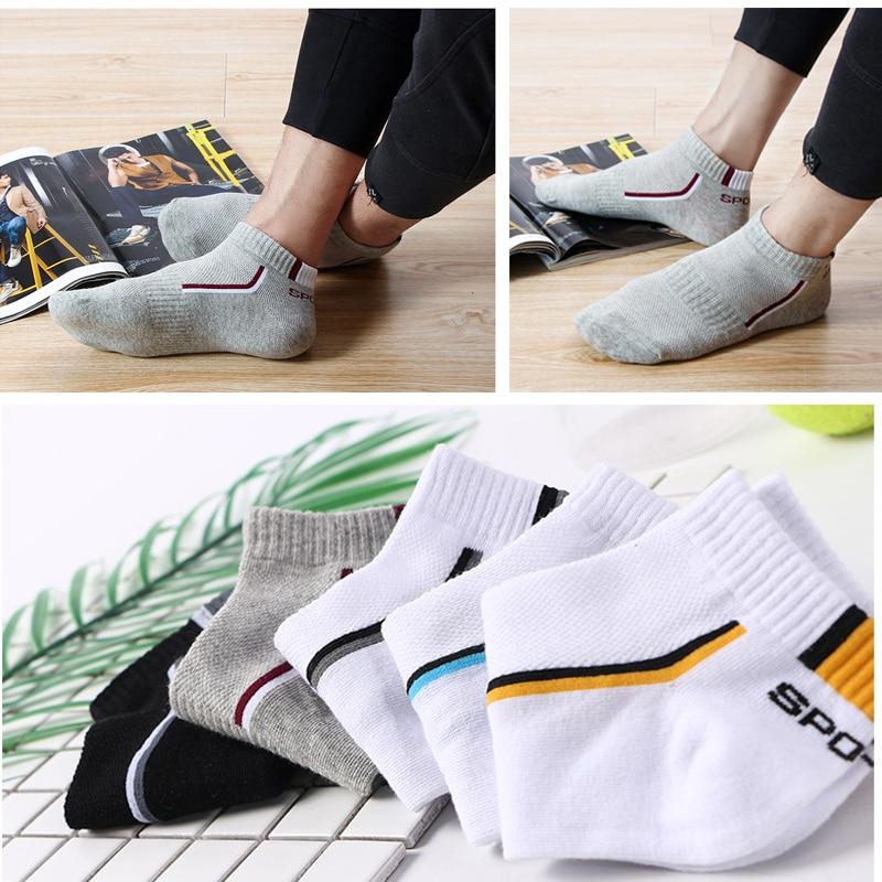 Cycling-Socks Sports-Socks 10-Pair Short-Sokken Breathable Cotton Men Mesh Thin-Cut High-Quality