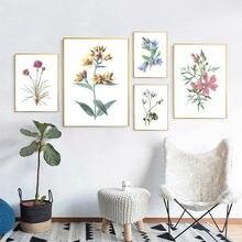 Скандинавский стиль цветок Холст Плакаты и принты Минималистичная
