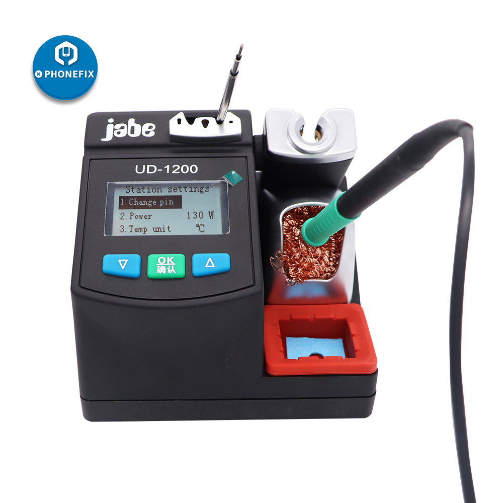Jabe UD-1200 Intelligent Soldering Station Smart 2.5S Rapid Heating with Dual Channel Power Supply Heating System Welding Tool
