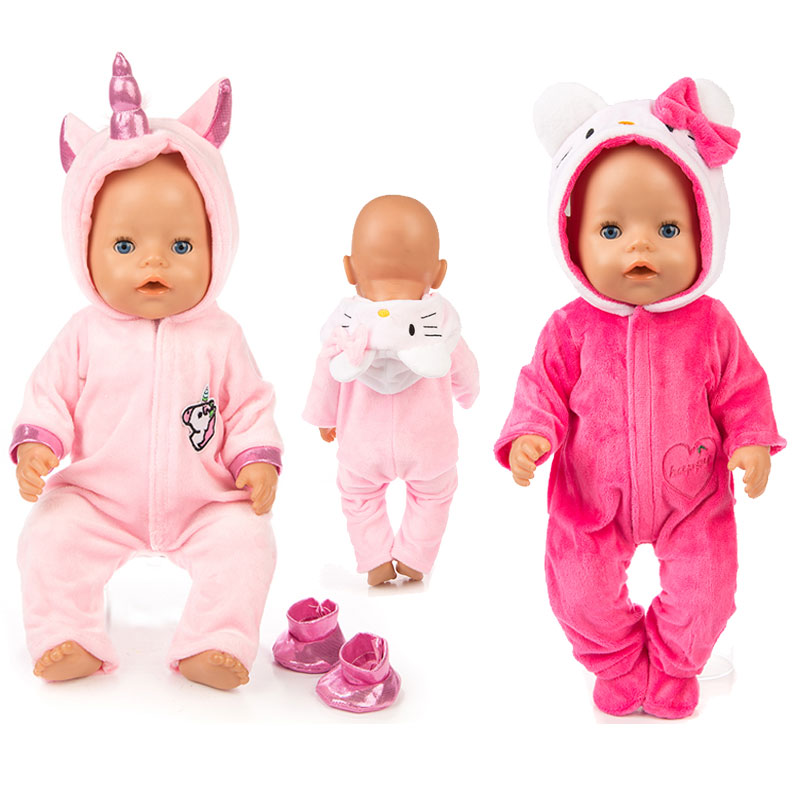 New Jump Suit Fit For 43cm Baby Doll 17 Inch Reborn Baby Doll Clothes
