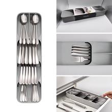 Cutlery Drawer Organizer Trays For Drawers Spoon Cutlery Separation Finishing Storage Box Cutlery Kitchen Storage Organization цена в Москве и Питере