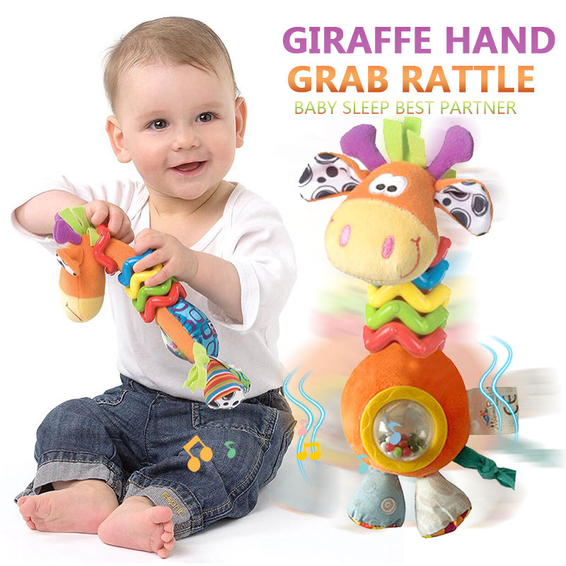 Rattles Toys For Baby Infant Toddler Children 0-12 Months Oyuncak Cartoon Plush Giraffe Baby Toys Educational Baby Stroller Toys