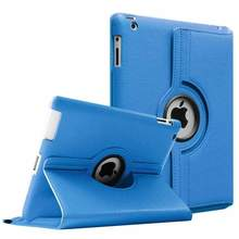 360 graus de rotação capa para apple ipad 2 3 4 caso couro do plutônio para ipad 2 3 4 inteligente tablet suporte casos a1397 a1416 a1430