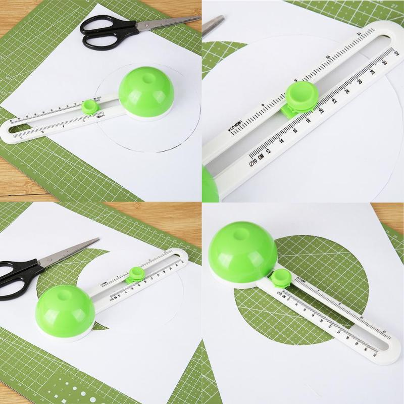 New Circle Cutter Round Cutting Knife Model Patchwork Compass Circle Cutter Circular Paper Scrapbooking Cards Circle Cutter