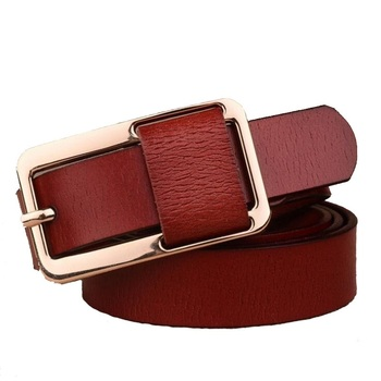 2018 new luxury woman leather belt Genuine and pu high quality strap pin metal buckle ceinture femme cow wbl096