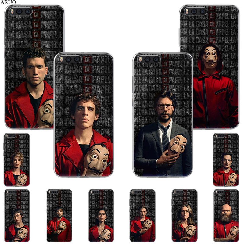 Money Heist House of Paper TV Series Phone Case For Xiaomi Mi A1 6x A2 5x mix3 Max2 Black Shark 3 2 Redmi 10x GO Y2 S2 Note 5 4