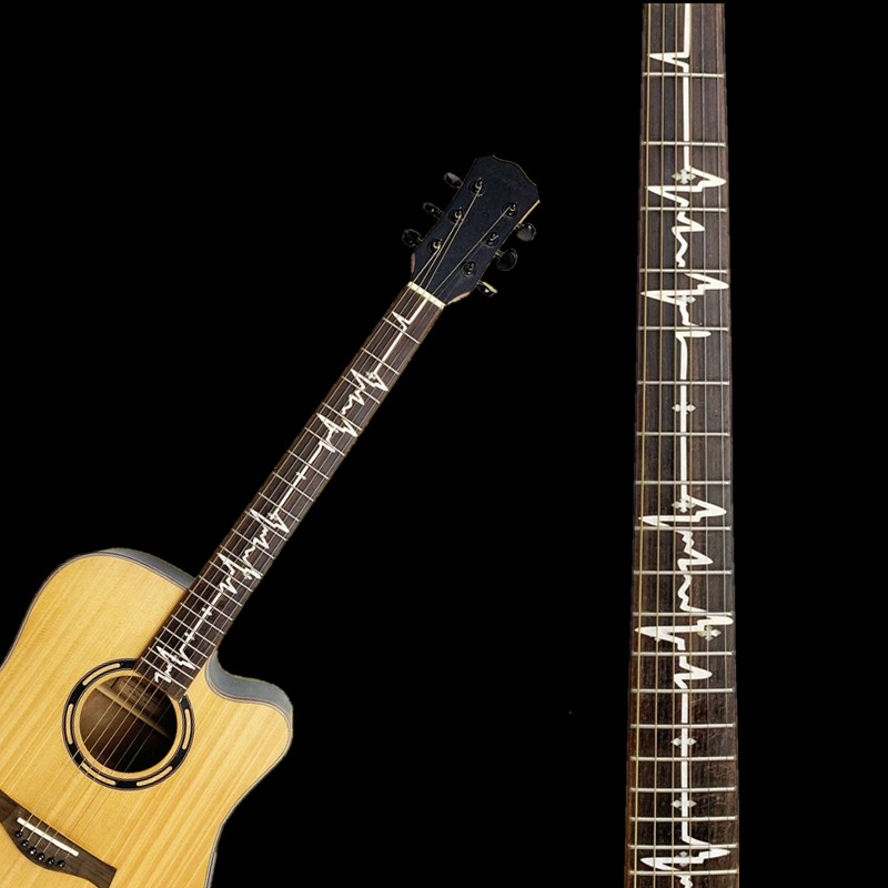 NEW Cross Inlay Decals Fretboard Sticker For Electric Acoustic Guitar Bass Ultra Thin Sticker Guitarra Accessories 21Styles
