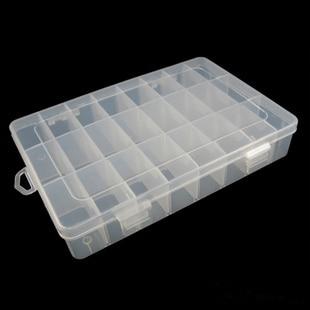 Cross Border Supply Of Goods 24/15/10/8 Lattice Transparent Plastic Box Jewlery Box Storage Box Inserting Piece-Assembly
