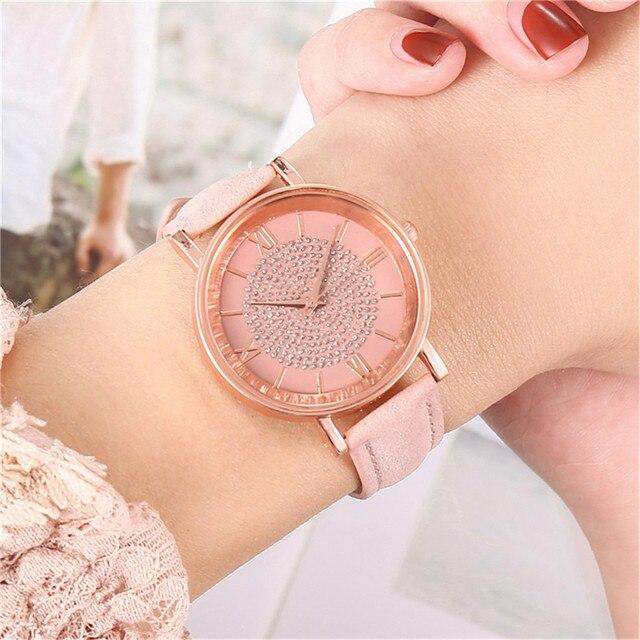 Fashion Women's Luxury Watches Quartz Watch Stainless Steel Dial Casual Bracele Quartz Wrist Watch Clock Gift Outdoor #40 3