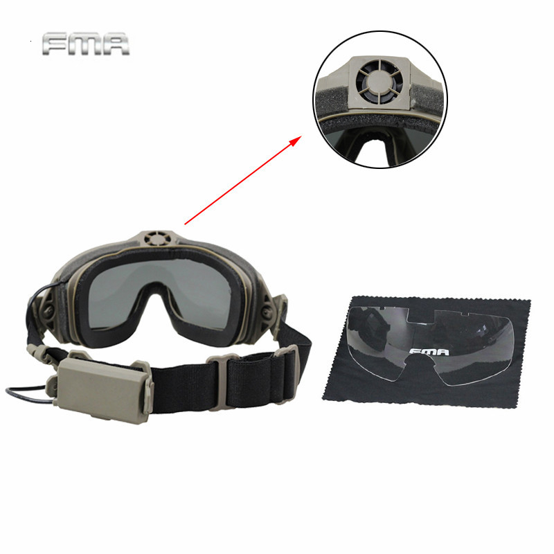 TB-FMA Men's Airsoft Fan Goggles LPG01BK12-2R Regulator With Fan Updated Tactical Paintball Protection Of Eyes Security Goggles