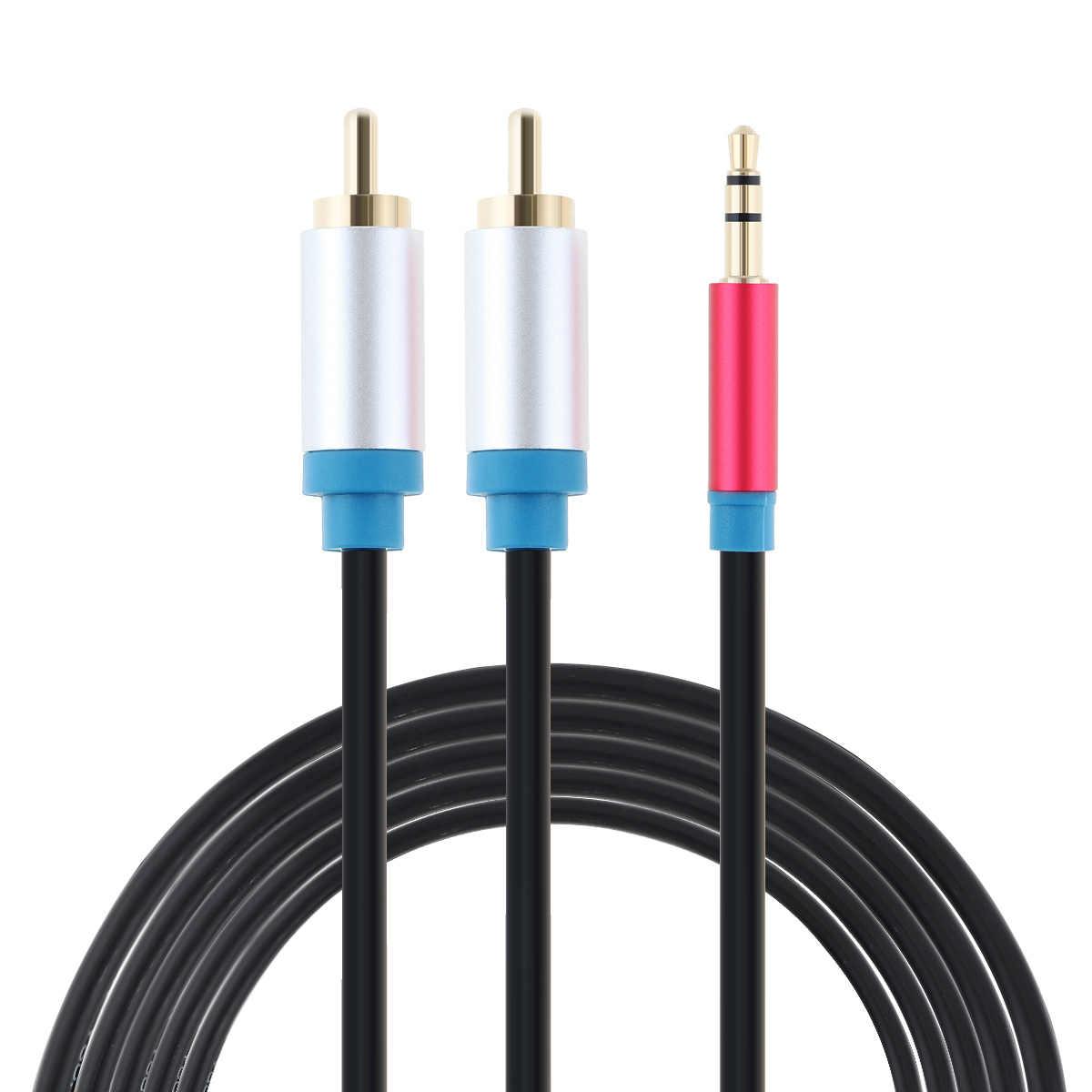 DiGiYes 3 M/9.84Ft kabel rca radio hifi 2RCA do 3.5MM kabel Audio wsparcie AUX złącze rca 3.5 Y Splitter do wzmacniacza/Audio