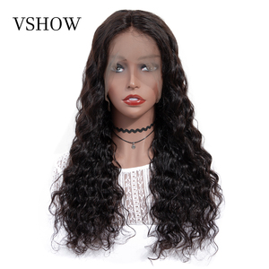 Image 3 - VSHOW Brazilian Deep Wave Wigs For Women 13x4 Lace Frontal WigS 180% Density Lace Closure Wigs Remy Loose Deep Human Hair Wigs