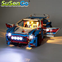 SuSenGo LED Light Kit For 42077 Technic Series Rally Car Building Blocks Lighting Set Compatible with 20077 10826 NO Block Model 2018 new 1085pcs lepin technic series 20077 the rally car set 42077 building blocks bricks educational funny children toys gifts