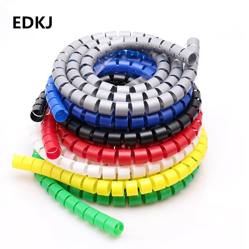 8/10/15/20/25mm 1m linha organizador tubo de proteção espiral envoltório enrolamento cabo fio protetor capa tubo (sem fio-finder)